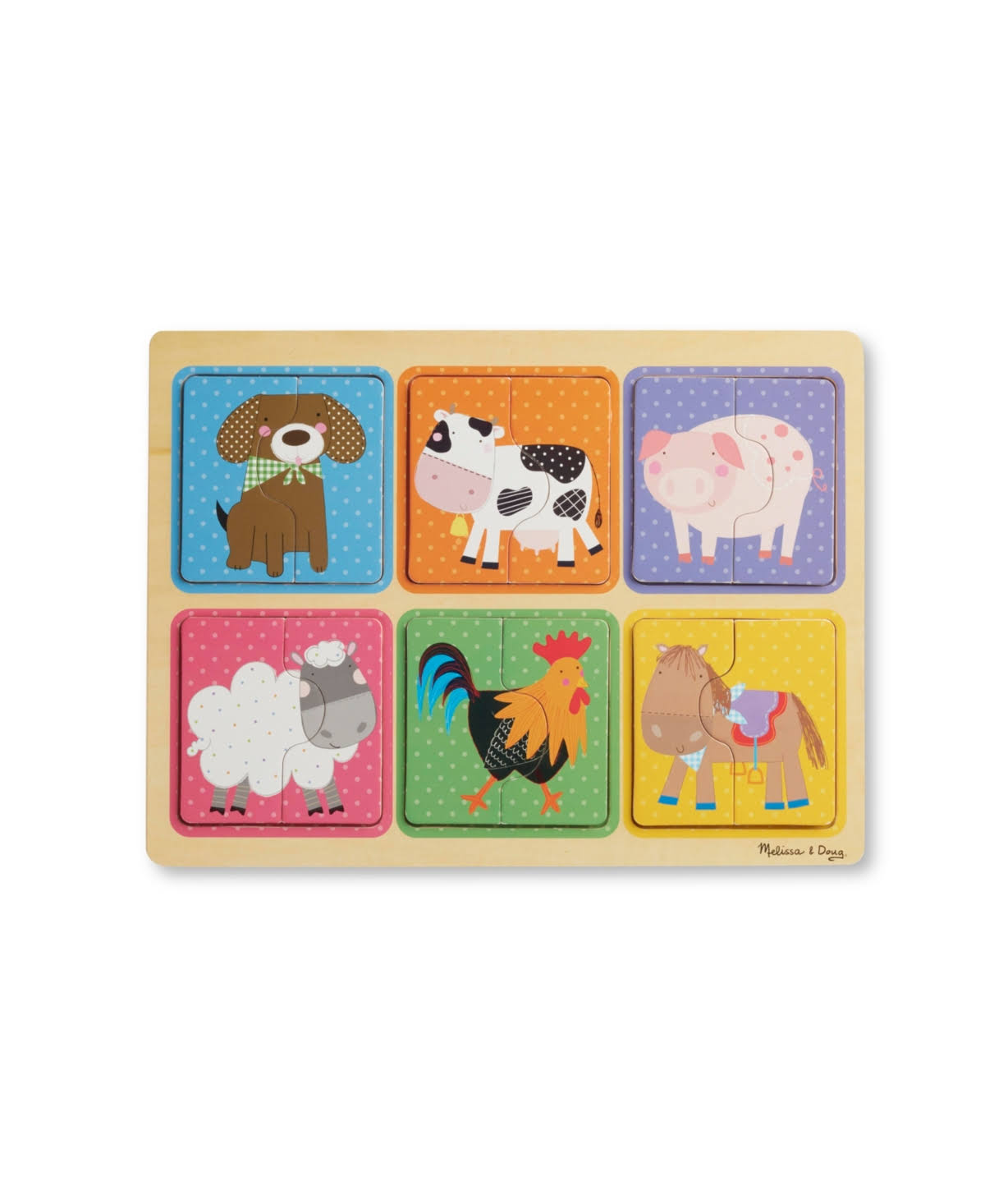 Melissa & Doug Wooden Puzzle: Farm Friends