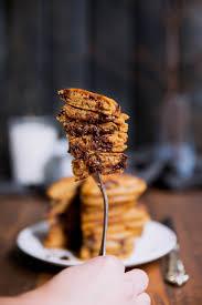 Pumpkin Cake Mix Pancakes by Healthy Whole Wheat Pumpkin Chocolate Chip Pancakes Ambitious