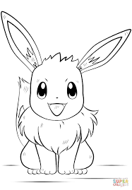Pokemon Coloring Pages Eevee Page Free Printable Online
