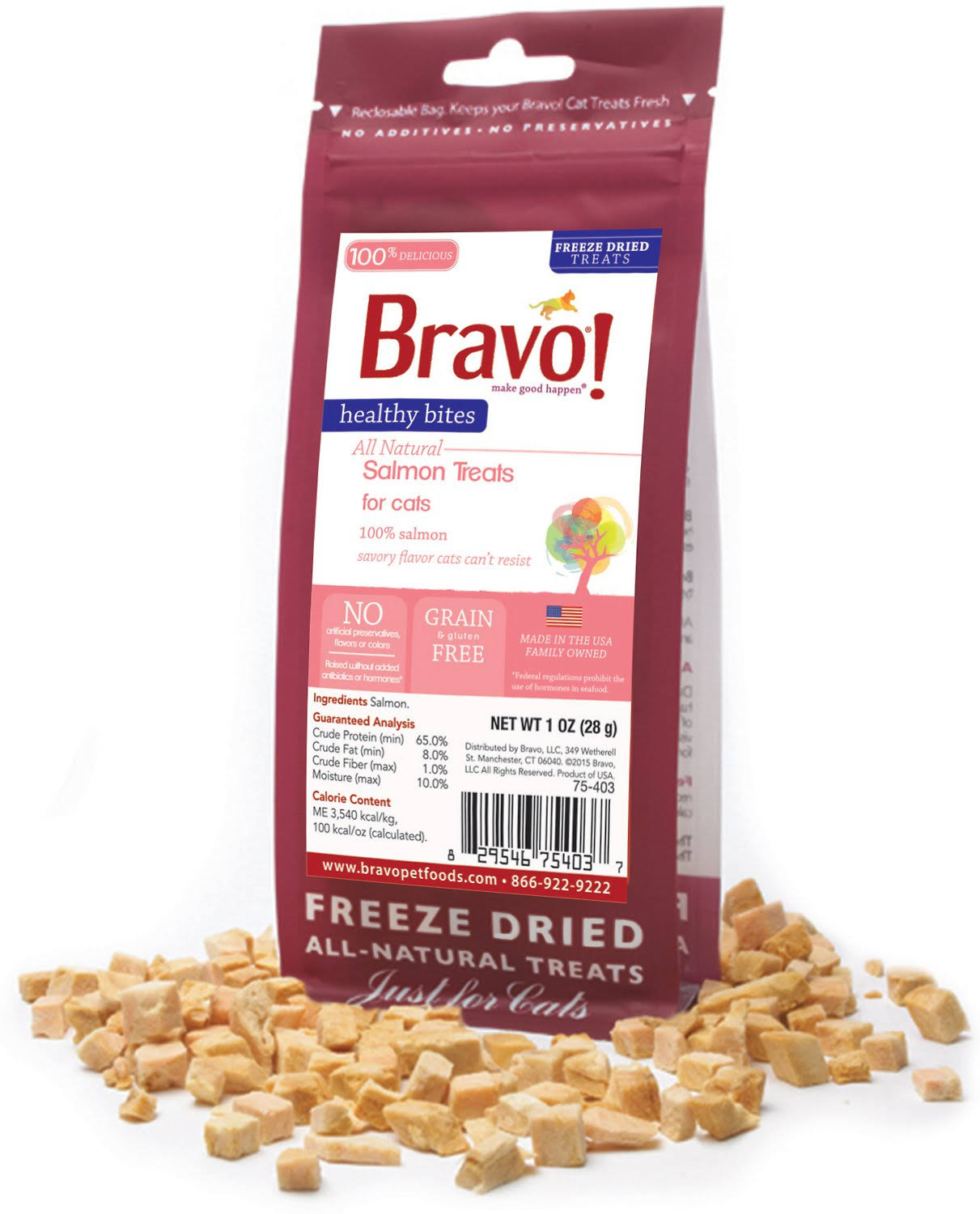 Bravo Healthy Bites Salmon Treats 1oz