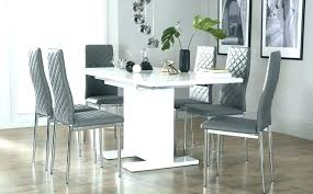 Dining Room Chairs Grey White And Gray Table Amazing Dark Walls Design