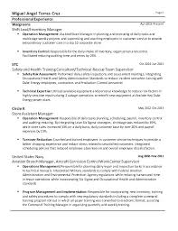 Supervisor Resume Examples 2012 Retail Management Template Sample For Samples Entry