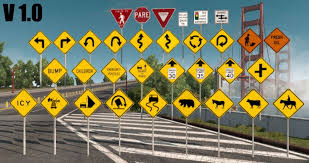 Traffic-Signs-Pack V1.2 – More Sign Assets Mod - American Truck ... Metal Outdoor Signs Vintage Trailer And Truck Glamping Funny Sign Rv Fileroad Sign Trucks Permittedsvg Wikimedia Commons Rollover Warning For Sharp Curves Vector Image 1569082 Crossing Mutcd W86 Us Safety Floor Marker Forklift Idenfication From Parrs Uk German Direction For A Route Stock Photo Picture And 15 Merry Christmas 6361 Craftoutletcom 3point Contact When Getting On Off Nhe14373 Symbol W1110s Free Images Road Street Car Isolated Transportation Truck