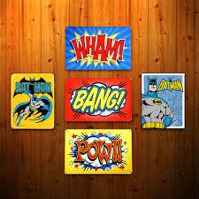 Vintage Superhero Wall Decor by Wham Bang Pow Retro Wall Decor For The Comic Book Fan