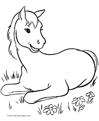 Free Horse Coloring Book Pages 010