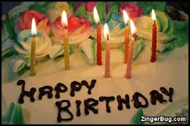 to the codes for this image Birthday Cake With Flickering Candles Happy