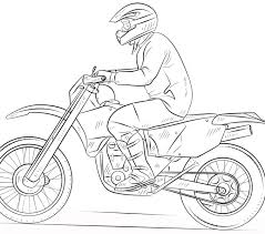 Dirt Bike Coloring Pages Page Free Printable To Print
