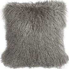2016 Real Tibetan lamb pillow cover Mongolian Fur Pillow 17
