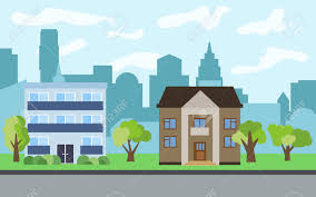 100 Three Story Houses City With Twostory And Story Cartoon And Green