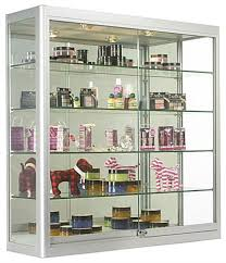 purchase ready to ship trophy cases for jewelry display from our