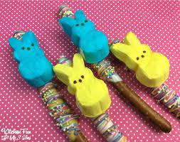 Halloween Pretzel Rods by Easter Peeps Pretzel Rods Kitchen Fun With My 3 Sons