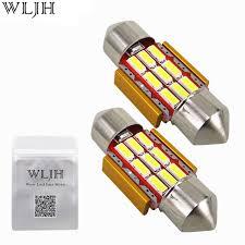 wljh 4pcs 31mm led festoon car interior light l de3175 9 smd