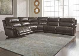 Higdon Furniture Dak DuraBlend Antique Left Facing Sectional w
