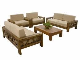 Solid Wood Sofa Set Design
