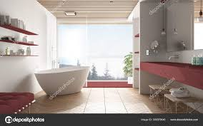 100 Modern White Interior Design Luxury Modern White And Red Bathroom With Parquet Floor And