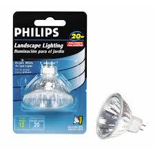 shop philips 20 watt bright white mr16 halogen light fixture light
