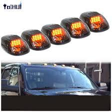 100 Running Lights For Trucks Black Smoked Lens Amber Light LED Cab Roof Marker For