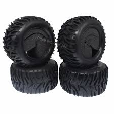 100 Off Road Truck Tires 4Pcs RC 110th Monster With Foam Inserts OD120mm ID