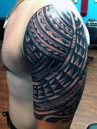 Half Sleeve Tattoo Design For Men Fishtribal Lazy Penguins
