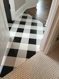 White 12x12 Vinyl Floor Tile by Buffalo Check Tile Flooring Created Using Standard Black White