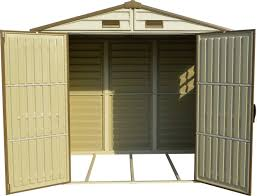 Rubbermaid 7x7 Shed Door Latch by Amazon Com Storemate Vinyl Shed With Floor 8 Ft L X 6 Ft W