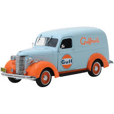 100 Panel Trucks 1939 Chevrolet Truck Gulf Oil Die Cast 124 Scale Officially