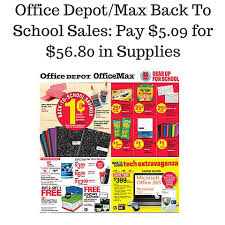 fice Depot Max Back To School Sales Pay $5 09 for $56 80 in