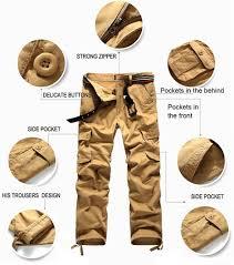 tripleclicks com mens military cargo pants for men more pockets