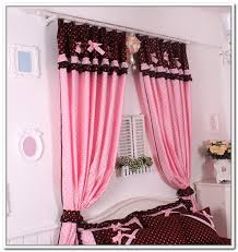 Pink Ruffled Window Curtains by Pink Window Curtains Curtains Ideas