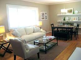 Combined Living Room Dining Combo Small Space