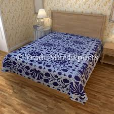 Indian Bedding Kantha BedSpread Cotton Bedcove Discovered