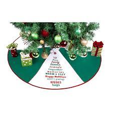 Shop Seasons Greetings Green Polyester 36 Inch Christmas Tree Skirt
