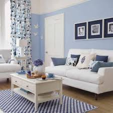 blau und weiß wohnzimmer deko ideen wohnung light blue