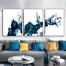spritzte wasser noch abstrakte leinwand poster nordic minimalistischen wand kunstdruck malerei moderne wohnzimmer dekoration bild