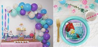 Little Mermaid Bathroom Accessories Uk by Little Mermaid Party Ideas Disney Party Ideas At Birthday In A Box