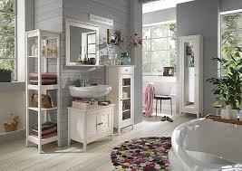 badmöbel set kiefer weiß lasiert badezimmer möbel holz massiv 5teilig