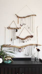 Driftwood Jewelry Display Wall Mounted Organizer Necklace Hanger Holder Set Or Single