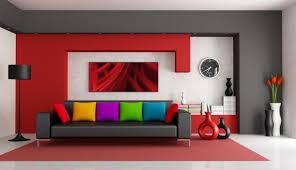 Living Room Beautiful Red Set Simplicity Decor