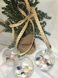 Seashell Christmas Tree by Seashell Christmas Ornaments 3 Seashells Sea Glass Sand