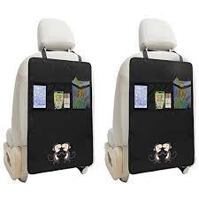 taches siege voiture zuoao 2pcs protection dossier de siège avec poches pour