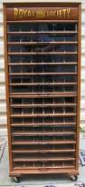 Sewing Cabinet Woodworking Plans by Royal Society Spool Cabinet With 15 Glass Front Drawers Brass