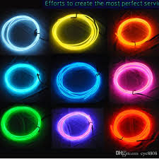 3m EL Decorative Strip Light Car Interior Lights Ambient Lighting Retrofit Body Trim Led Cold