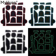 100 Rubber Truck Mats 16pcs Car Interior Accessory Slot Car Stickers Anti Slip