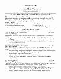 Sample Resume Project Manager Manufacturing New Unique Production