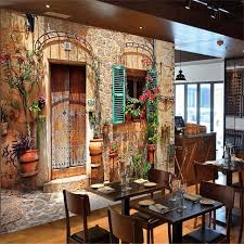 Custom Photo Wall Mural Wallpaper 3d Luxury Quality HD European Medieval Streets Old House Cafe