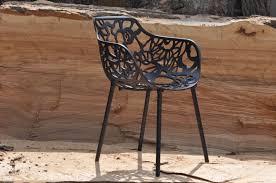 1x desinger stuhl esszimmer oder garten metall zuiver