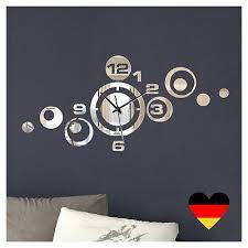 moderne wanduhr spiegel design wand dekouhr wohnzimmer uhr