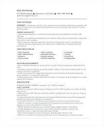 Janitorial Job Objective Resume Custodian Sample Lead