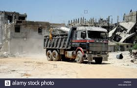 100 Eastern Truck And Trailer Damascus Syria 19th June 2018 A Truck Removes The Rubble In