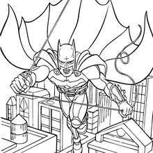 Batman Flying Coloring Page